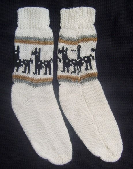 NEW 100% ALPACA WOOL SOCKS CHILD KIDS 1 PAIR WHITE (4   6 YEARS) WARM