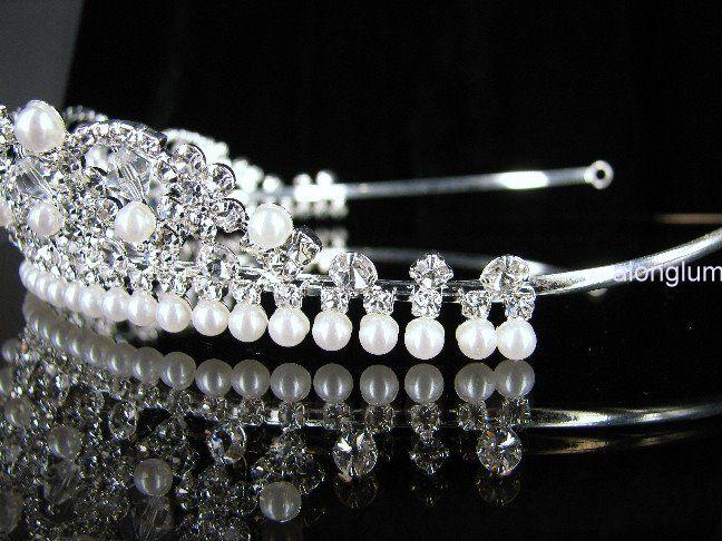 A9011 Wedding Bridal Bridesmaid Prom Party Faux Pearl Swarovski