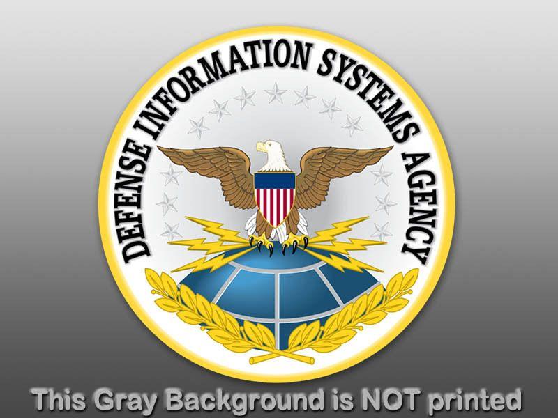 Round DSA Defense Seal Sticker  decal logo agency info