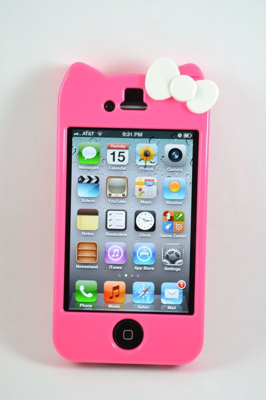 Hot Sale Hello Kitty Hard Case + USB cable iPhone 4 & 4S Gift Set (Hot