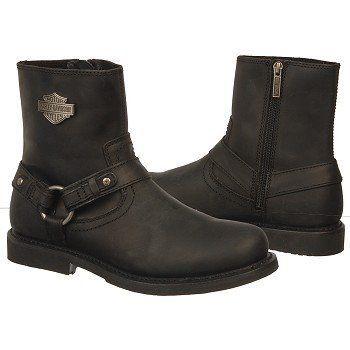 Mens Boot Harley Davidson SCOUT BLACK Leather MEDIUM